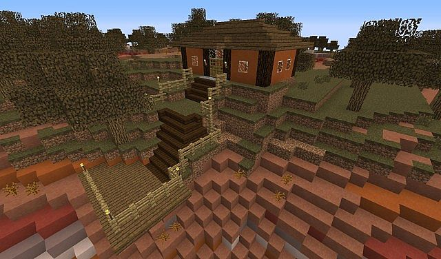 Epic Mesa Biome Starter House Minecraft Project