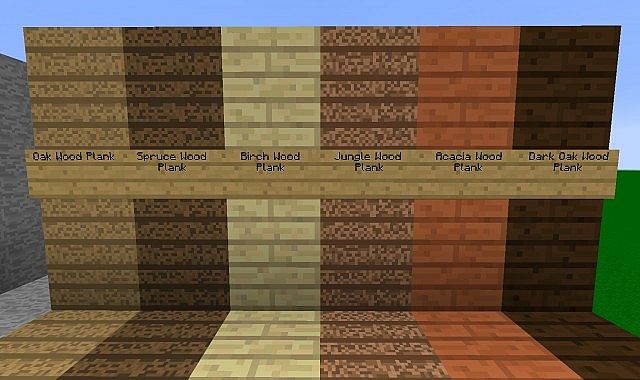 Minecraft papercraft wooden planks images