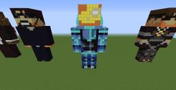 Team crafted statue land Minecraft Map & Project