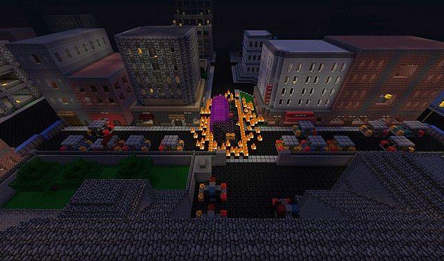 Resident Evil Raccoon City Adventure Map Minecraft Project