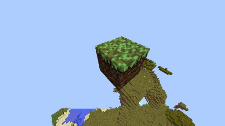 how to make a giant grass block in minecraft