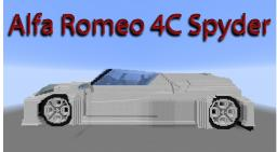 Minecraft 3D art - Alfa Romeo 4C Spyder Minecraft Map & Project