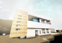 Realistic Modern House Minecraft Map & Project