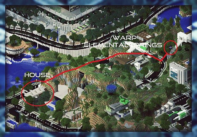 Map to the build at warp elementalsprings