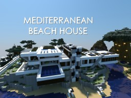Mediterranean Beach House Minecraft Map & Project