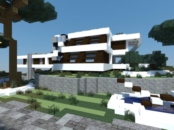 Mediterranean Beach House Minecraft Project