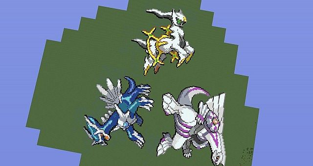 Palkia Dialga And Arceus Pixel Arts Minecraft Project