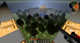 FLAN'S mod team mega play map with auto rebuild structure Minecraft Project