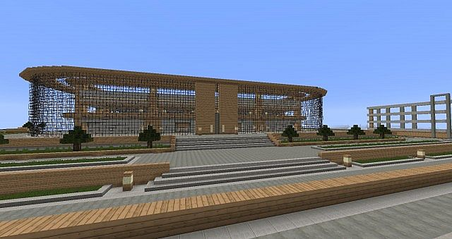 Modern Stadium Wip Minecraft Project