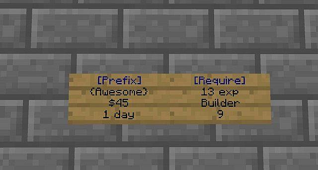 Custom prefix minecraft plugin