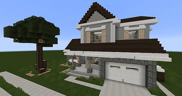 Traditional Suburban House 1 Minecraft Project