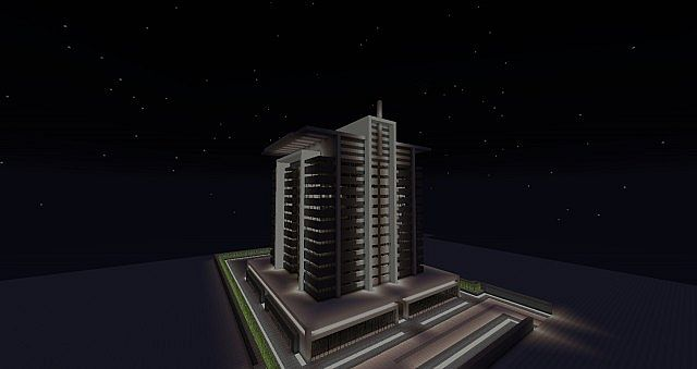 Modern Apartment Tower Minecraft Project