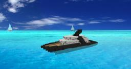 Eclipse Yacht (Boat) Minecraft Map & Project