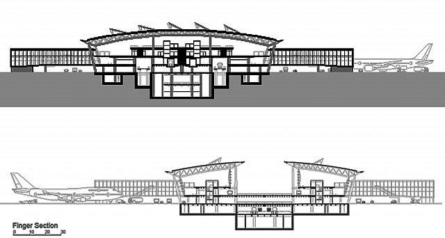 Building plan-cross section