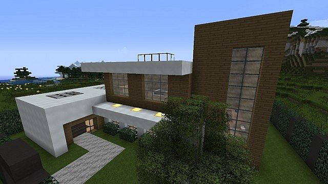 Modern two story house minecraft project Modern two story homes