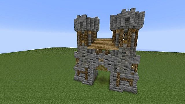 Medieval Wall Pack Schematics Minecraft Project