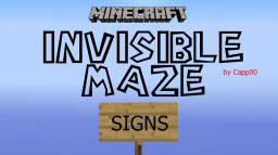 Invisible Maze - Signs Minecraft Map & Project