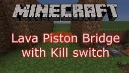 Hidden Lava Piston Bridge with Killswitch (Tutorial) Minecraft Map & Project