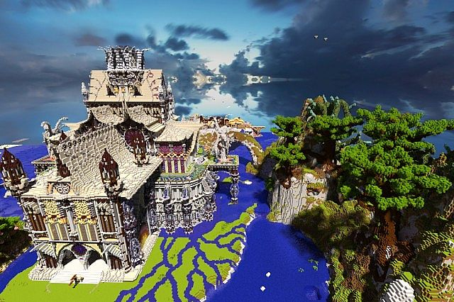 Ithraduils Dawn Fantasy Palace Minecraft Project