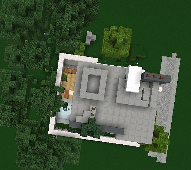 Minecraft Living Rooms: Vento High Tech, Modern House Minecraft Project