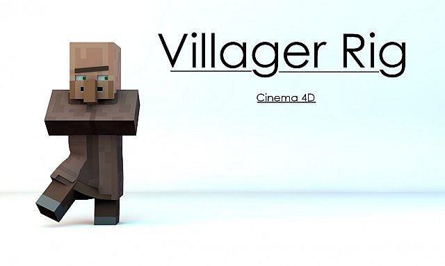 FREE] - Minecraft Cinema4D Villager Rig Minecraft Project