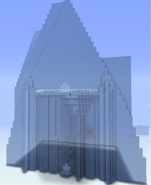 Elsa S Ice Castle Frozen Minecraft Project