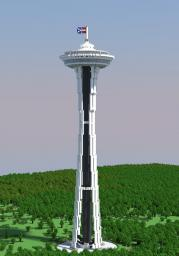 1:1 Space Needle (4 legged) Minecraft Map & Project