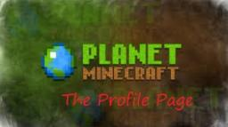 The profile page. Minecraft Blog