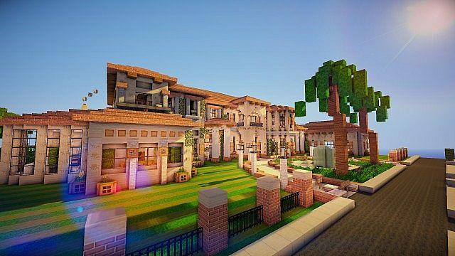 El 39 villa italian style mansion minecraft project - American home decor property ...
