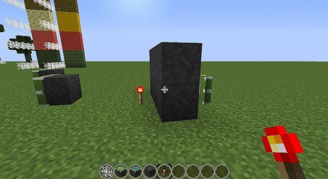 Piston with stone