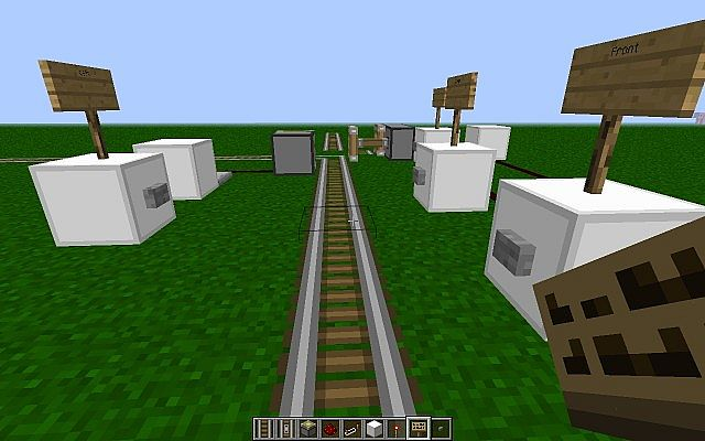 how to make train tracks on minecraft
