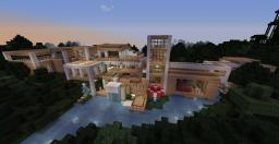 Modern Riverside Mansion Minecraft Map & Project