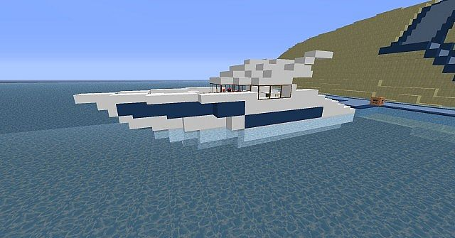 small yacht modern Minecraft Project