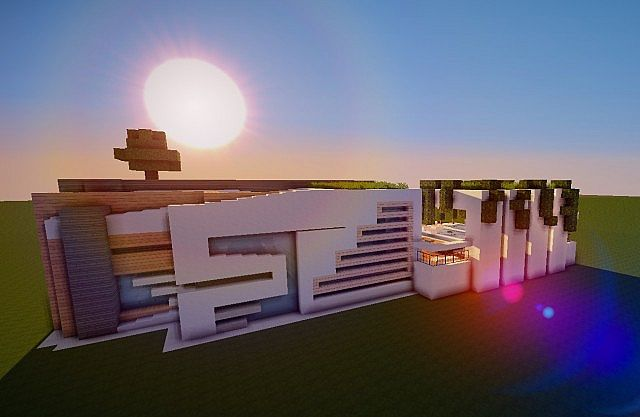 Halo an ultra modern house now also for mcpe minecraft for Modern house mcpe 0 14 0