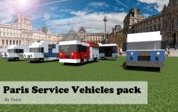Vehicles Pack - Paris's service vehicles [Realistic] Minecraft Map & Project