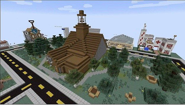 Maycomb from To Kill a Mockingbird! Minecraft Project