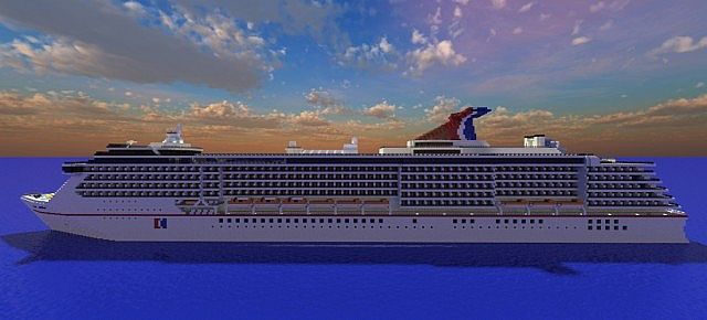 Carnival Spirit 1:1 Replica Real Ship Minecraft Project