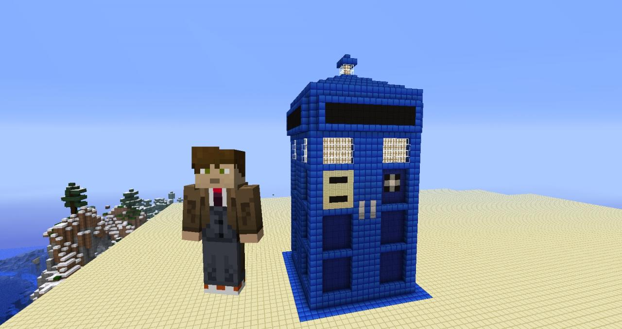 Doctor WHO PIXEL ART Minecraft Project