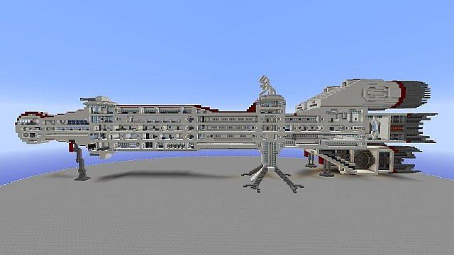 Starwars Corellian Cr70 Corvette Minecraft Project