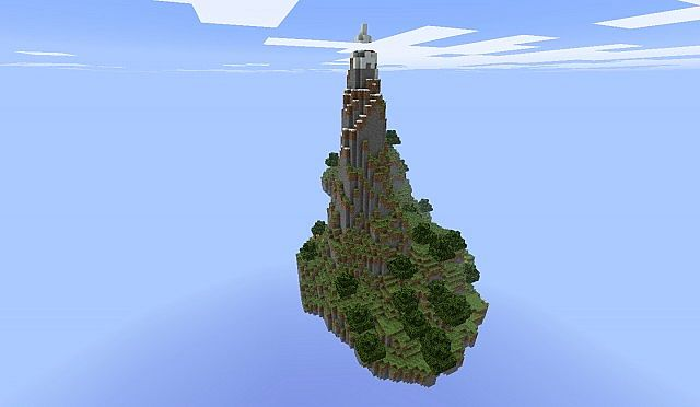 how to build a sky island in minecraft