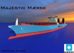 Majestic Mærsk [Largest ship in the world!][1:1 Scale!] Minecraft Map & Project