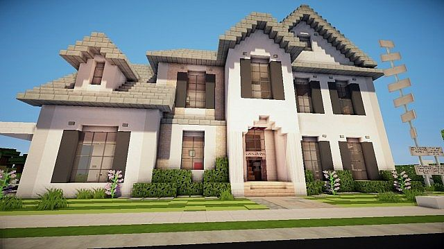 Large suburban home tba minecraft project for Big modern house tutorial