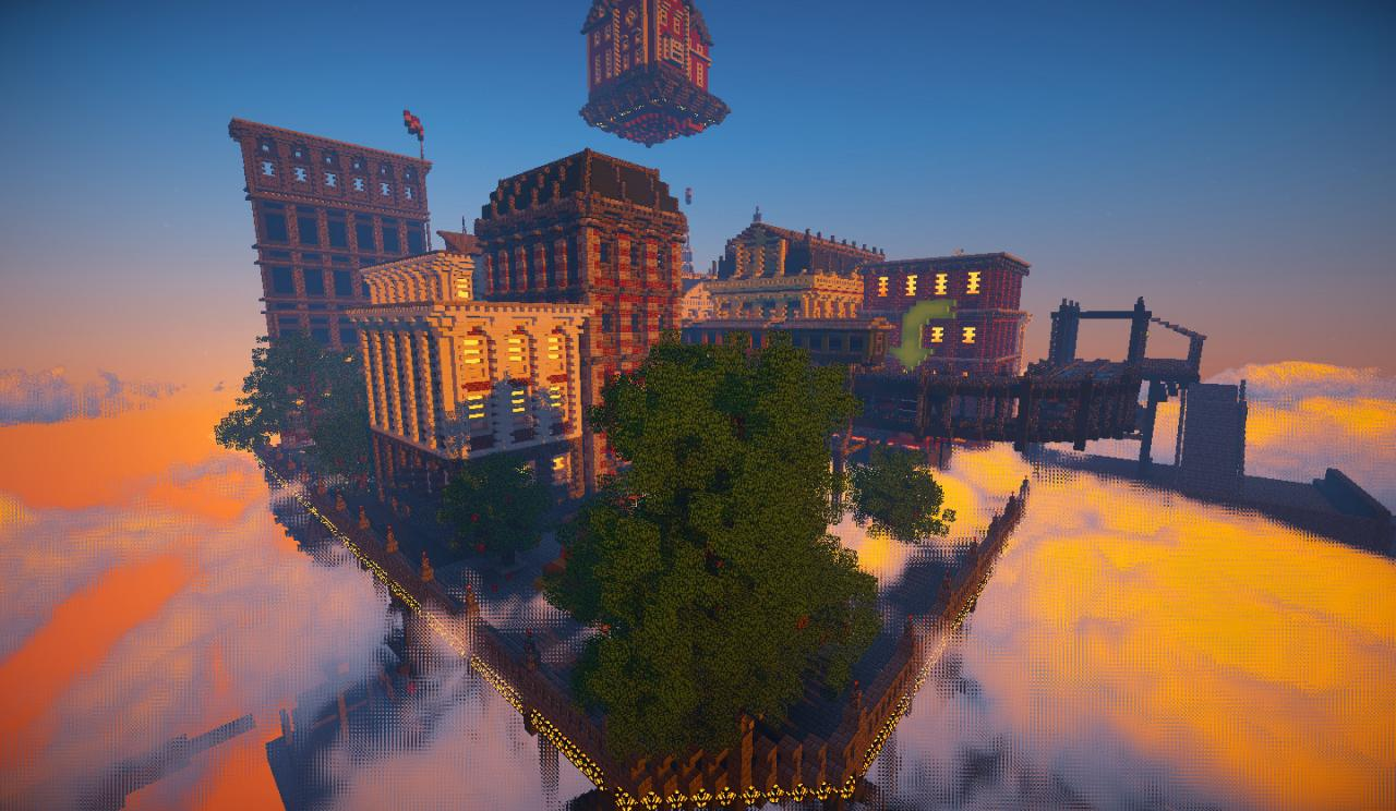 Floating Imperial Steampunk City Minecraft Project Floating City Steampunk