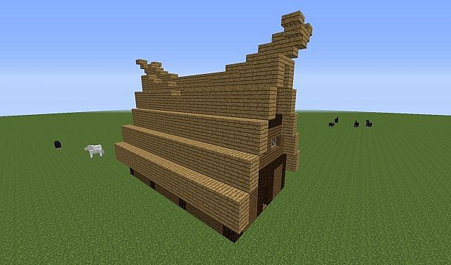 Simple Viking House Minecraft Project