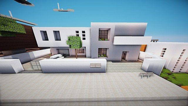 Change an ultra minimalist house minecraft project for Ultra minimalist house