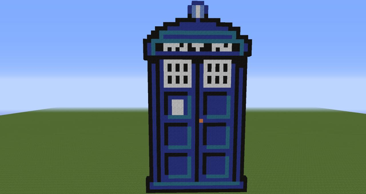TARDIS Pixel Art Minecraft Project