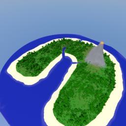 Desert Volcano Island Minecraft Map & Project