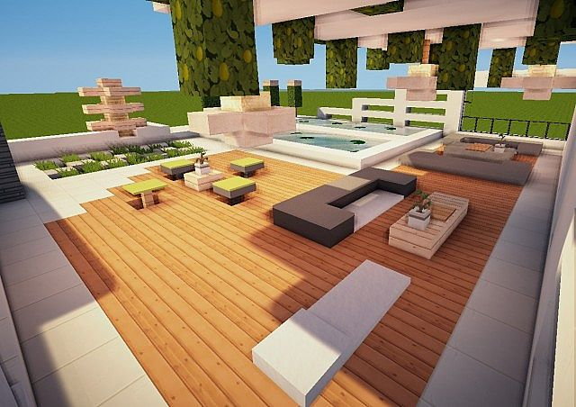 How To Make A Modern Living Room In Minecraft Pe halo -an ultra-modern house (now also for mcpe) minecraft project