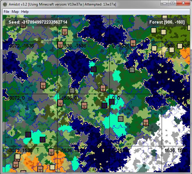 How to find rare biomes!   Mesa , Ice Mouintains , Mushroom