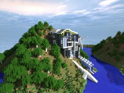 MossyUrbanBox - Modern Eco Mansion Minecraft Map & Project